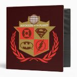 Justice League Defenders of the Planet 3 Ring Binders
