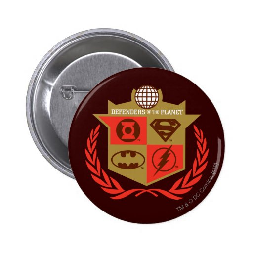 Justice League Defenders of the Planet Pinback Buttons