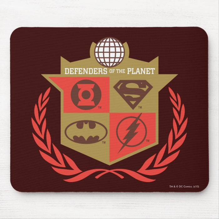 Justice League Defenders of the Planet Mouse Pad