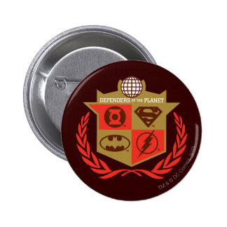 Justice League Defenders of the Planet Pinback Button