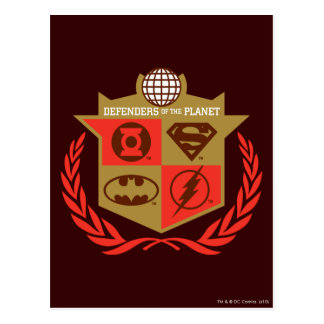 Justice League Defenders of the Planet Post Card