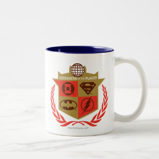 Justice League Defenders of the Planet Two-Tone Coffee Mug