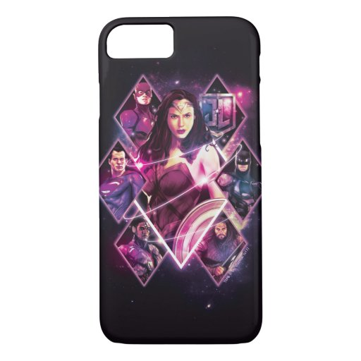 Justice League | Diamond Galactic Group Panels iPhone 8/7 Case