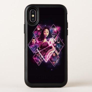 Justice League | Diamond Galactic Group Panels OtterBox Symmetry iPhone X Case