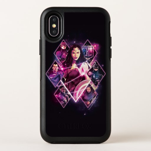 Justice League | Diamond Galactic Group Panels OtterBox Symmetry iPhone X Case