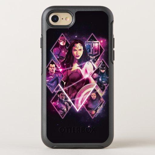 Justice League | Diamond Galactic Group Panels OtterBox Symmetry iPhone SE/8/7 Case
