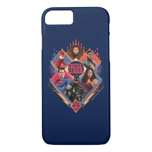 Justice League | Diamond Hatch Group Badge iPhone 8/7 Case