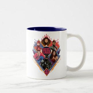 Justice League | Diamond Hatch Group Badge Two-Tone Coffee Mug
