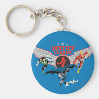 Justice League Flying Air Badge and Heroes Basic Round Button Keychain