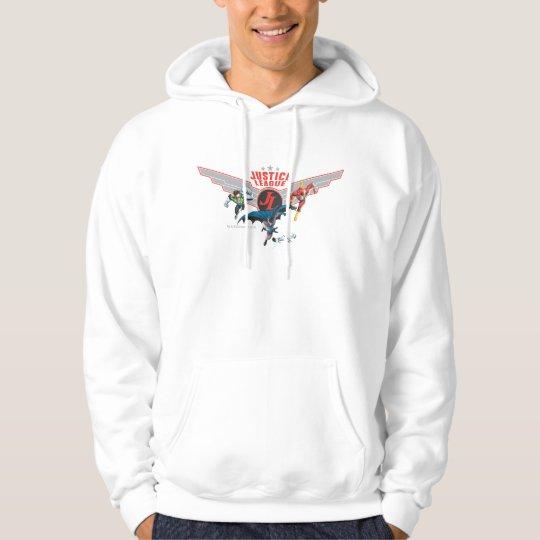 Justice League Flying Air Badge and Heroes Hoodie