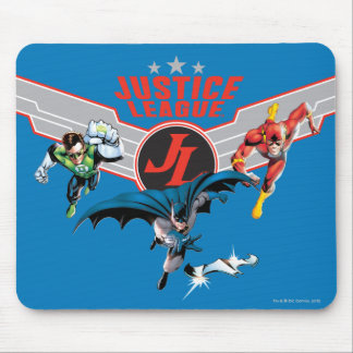 Justice League Flying Air Badge and Heroes Mousepads