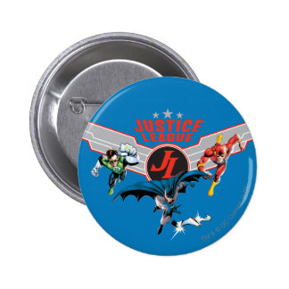 Justice League Flying Air Badge and Heroes Pinback Button