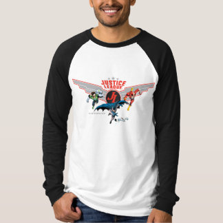 Justice League Flying Air Badge and Heroes T-Shirt