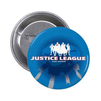 Justice League Global Defenders Pinback Button