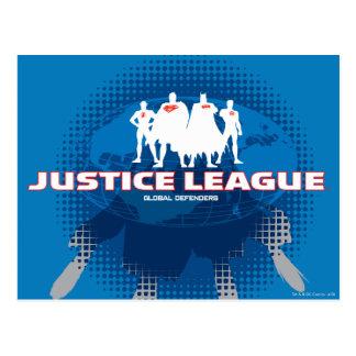 Justice League Global Defenders Post Card