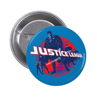 Justice League Global Heroes and Globe Button