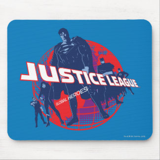 Justice League Global Heroes  and Globe Mousepad
