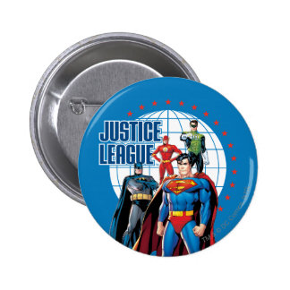 Justice League Global Heroes Pinback Button