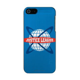 Justice League Globe Logo Metallic iPhone SE/5/5s Case