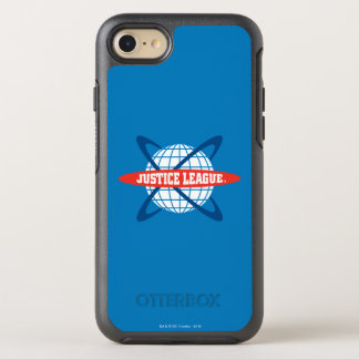 Justice League Globe Logo OtterBox Symmetry iPhone 8/7 Case