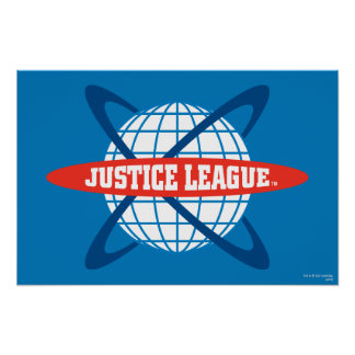 Justice League Globe Logo Poster