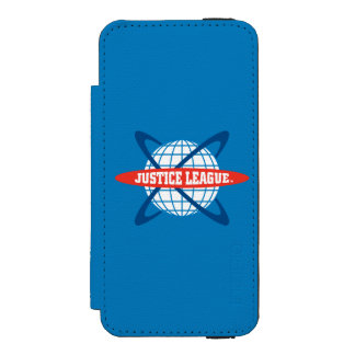 Justice League Globe Logo Wallet Case For iPhone SE/5/5s