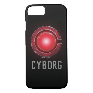 Justice League   Glowing Cyborg Symbol iPhone 8/7 Case