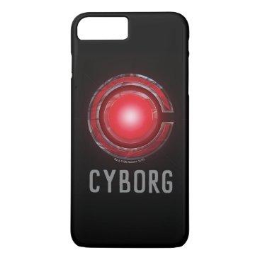 Justice League   Glowing Cyborg Symbol iPhone 8 Plus/7 Plus Case