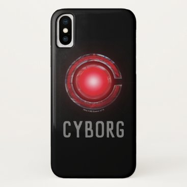 Justice League   Glowing Cyborg Symbol iPhone X Case
