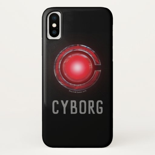 Justice League | Glowing Cyborg Symbol iPhone X Case