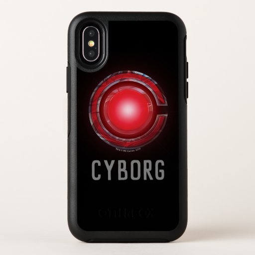 Justice League | Glowing Cyborg Symbol OtterBox Symmetry iPhone X Case