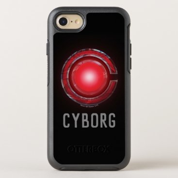 Justice League   Glowing Cyborg Symbol OtterBox Symmetry iPhone 8/7 Case