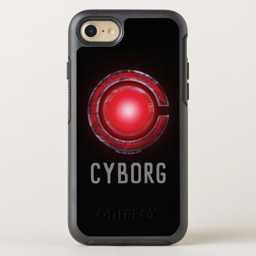 Justice League | Glowing Cyborg Symbol OtterBox Symmetry iPhone SE/8/7 Case