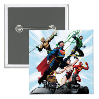 Justice League - Group 1 2 Inch Square Button