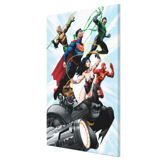 Justice League - Group 1 Gallery Wrapped Canvas