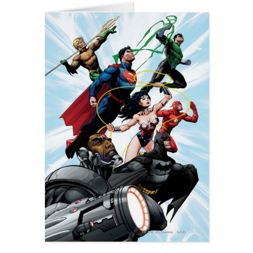 Justice League - Group 1 Greeting Cards