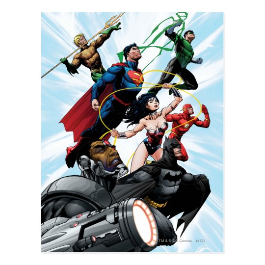 Justice League - Group 1 Postcard