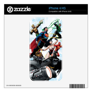 Justice League - Group 1 Skin For iPhone 4