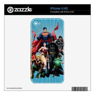 Justice League - Group 2 Decal For iPhone 4