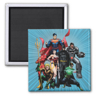 Justice League - Group 2 2 Inch Square Magnet