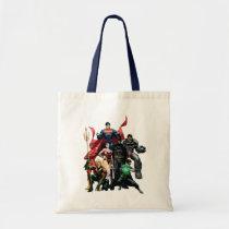 justice league new 52, jl new52, superman, wonder woman, aquaman, flash, cyborg, darkseid, batman, green lantern, dc comics, comic book covers, super heroes, Bag with custom graphic design