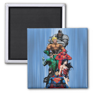 Justice League - Group 3 2 Inch Square Magnet