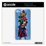 Justice League - Group 3 Decals For iPhone 4