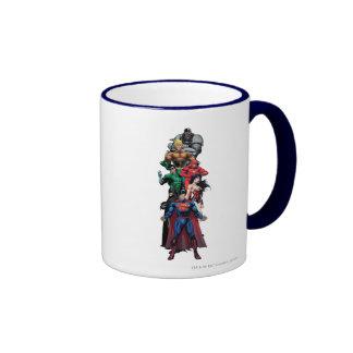 Justice League - Group 3 Ringer Coffee Mug