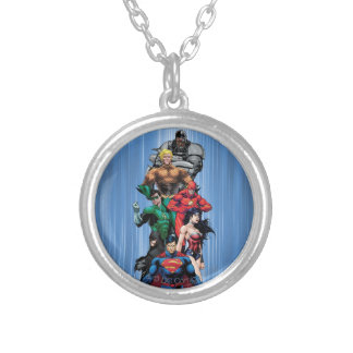 Justice League - Group 3 Silver Plated Necklace