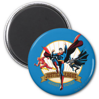 Justice League Heroes United 2 Inch Round Magnet