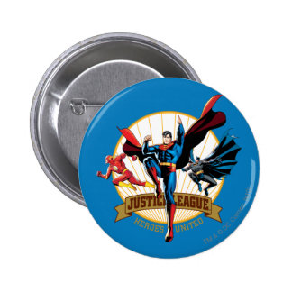 Justice League Heroes United Pinback Button