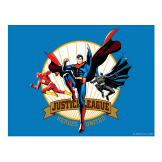 Justice League Heroes United Postcard