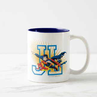 Justice League Heroes United Two-Tone Coffee Mug