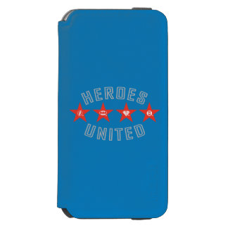 Justice League Heroes Untied Logos iPhone 6/6s Wallet Case